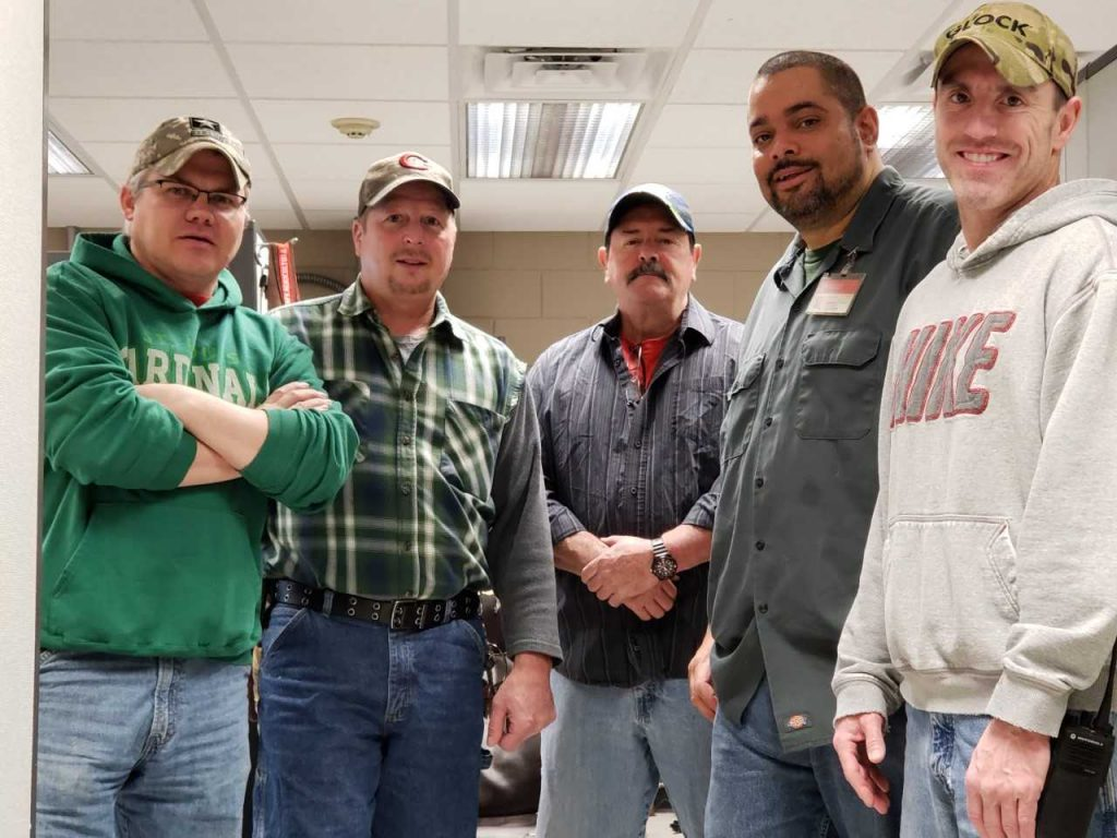 Left to Right: Andy Sylvester, Scott Crowell, Larry Maxhimer, Cesar Rolon and Bill Carey. Not in picture: John Fleming.