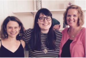 Lisa Vinney (left), Mary Smyers, Jennifer Friberg