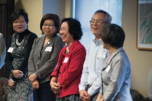 Luohu Chen; Julia Yang, M.S. '75; Winny Lin, M.S. '73; and Victor Hsieh, M.S. '72.