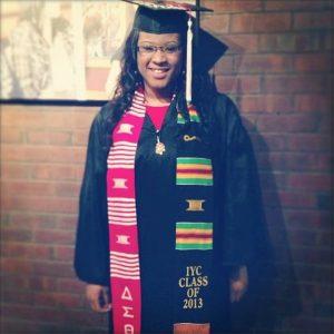 Lauren Bradley in graduation cap and gown