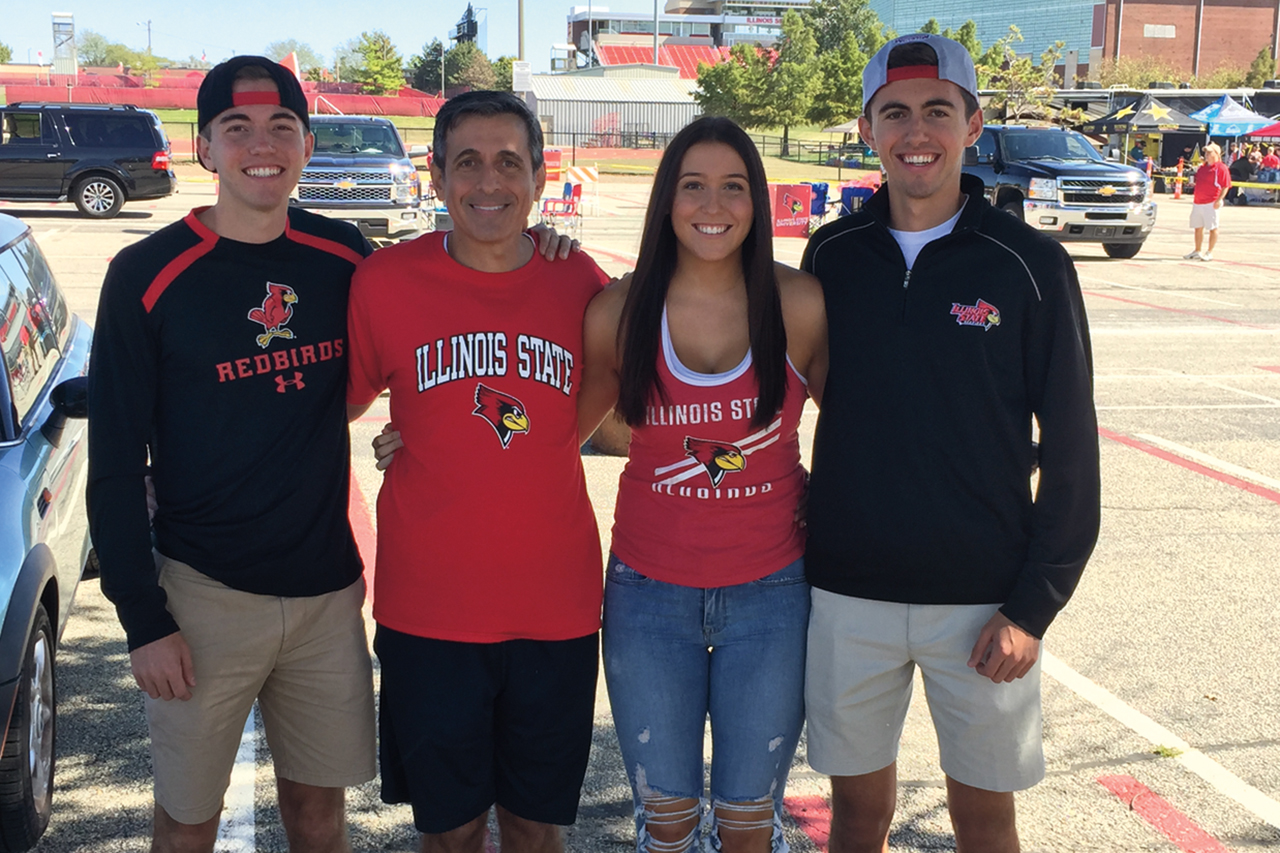 The Simios family includes, from left, Connor, Logan, Erica, and Dylan.