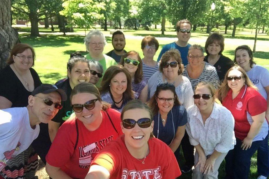 wellness walk participant selfie