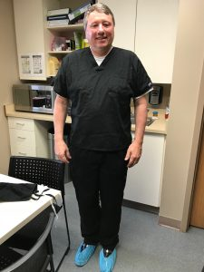 Dan Stephens in scrubs.