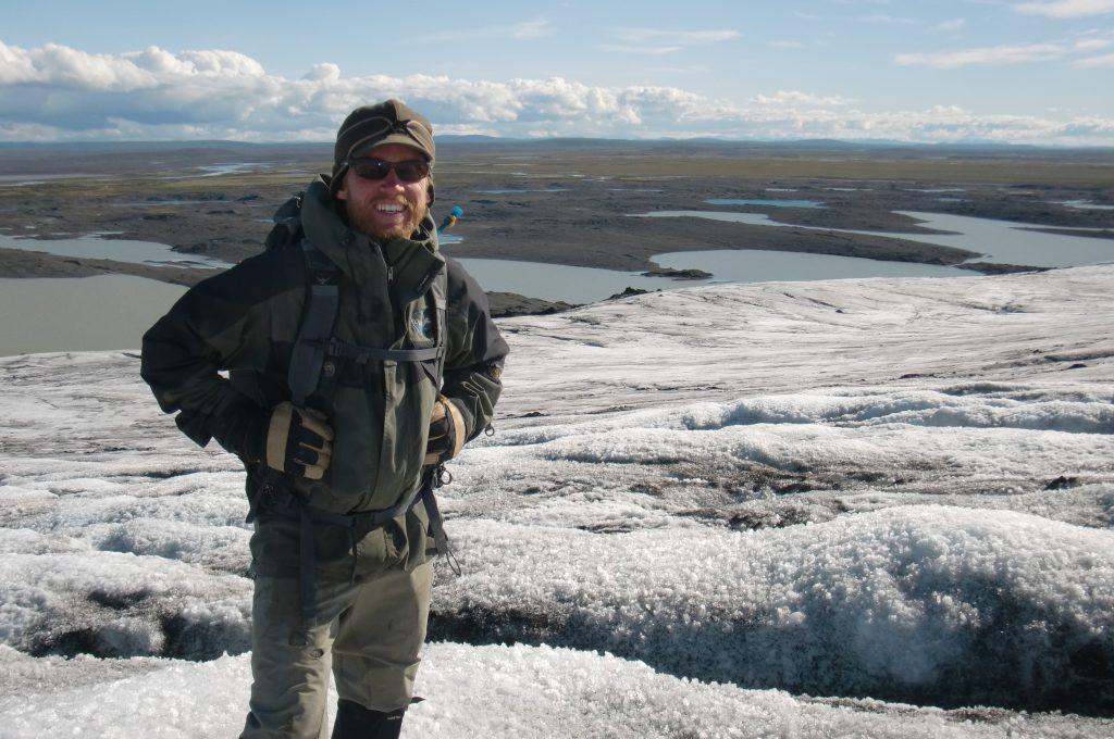 Jamie Esler in central Iceland.
