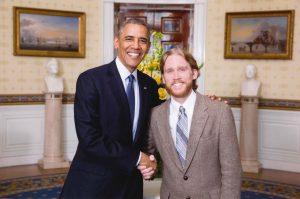Jamie Esler and former President Barak Obama