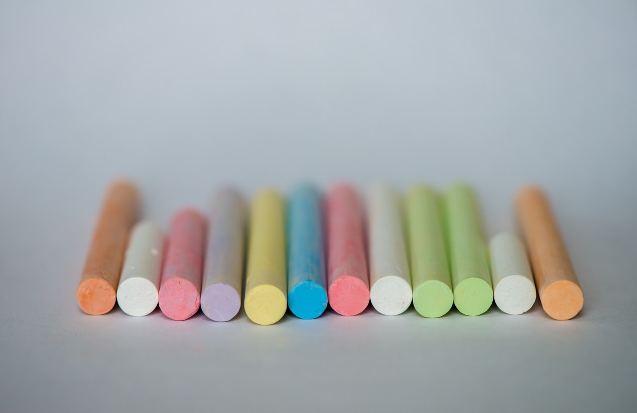 line of chalks