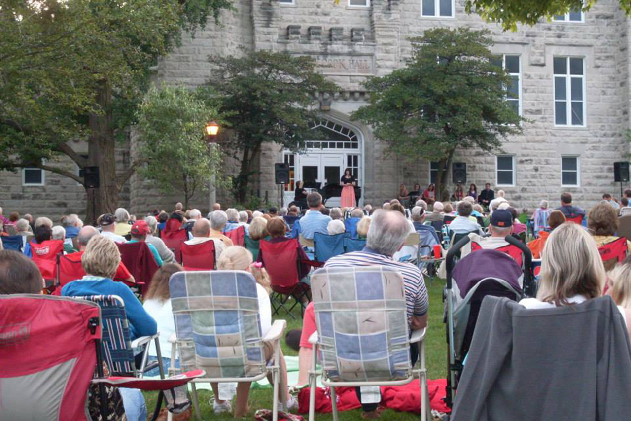 Concert goers enjoy annual favorites such as Singing Under the Stars. (Photo by Ralph Weisheit)
