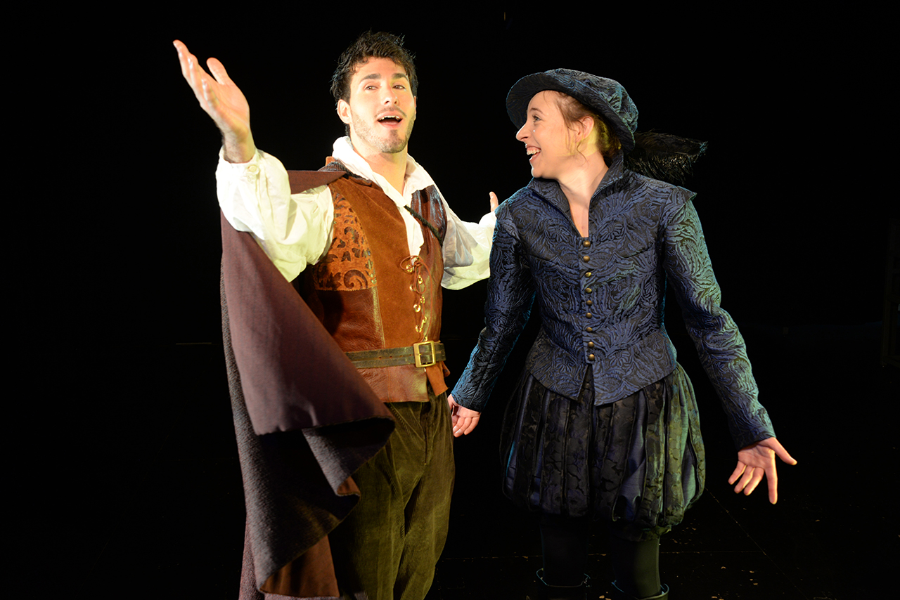 """Anthony Martinez and Katherine Fried in """"Shakespeare in Love."""""""