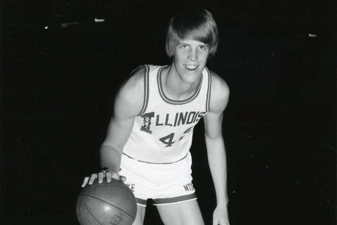 Redbird Hall of Famer Joe Galvin '80 during his playing days.
