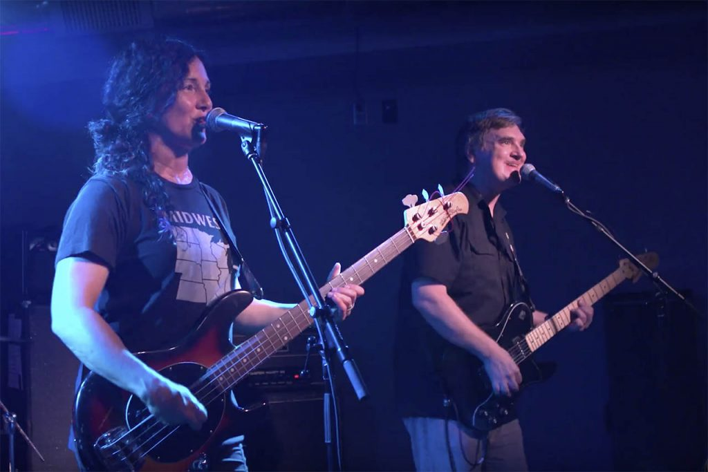 ISU professors Rick Valentin and Rose Marshack play in their band Poster Children.