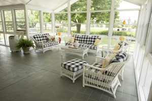 Marlene Dietz's favorite part of the home is the University Residence's sunporch.