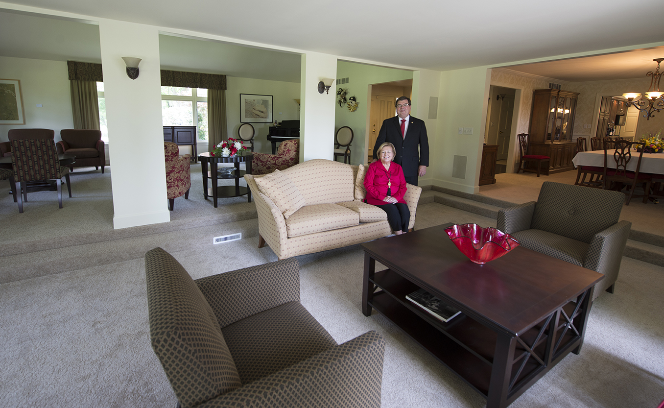 President Larry Dietz and his wife, Marlene, are now the residents of the the University Residence.
