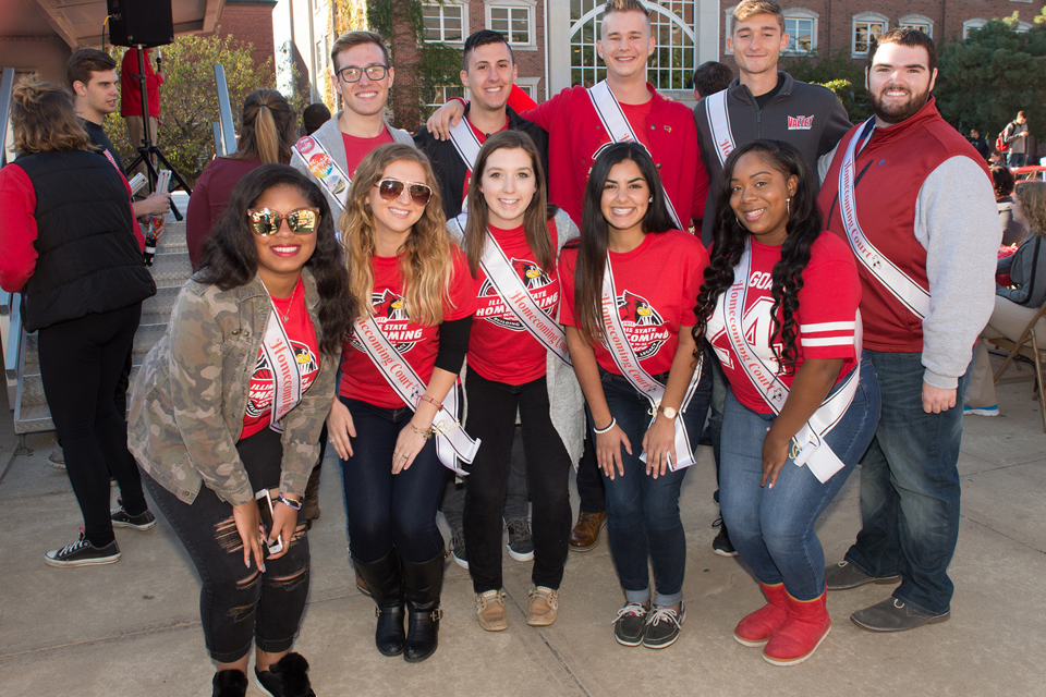 group of students wearing sashes