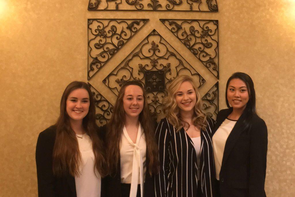 2018 Phoenix Challenge team: Kayla Mattson (left), Christine Gesell, Amanda Rapp, and Mindy Chan
