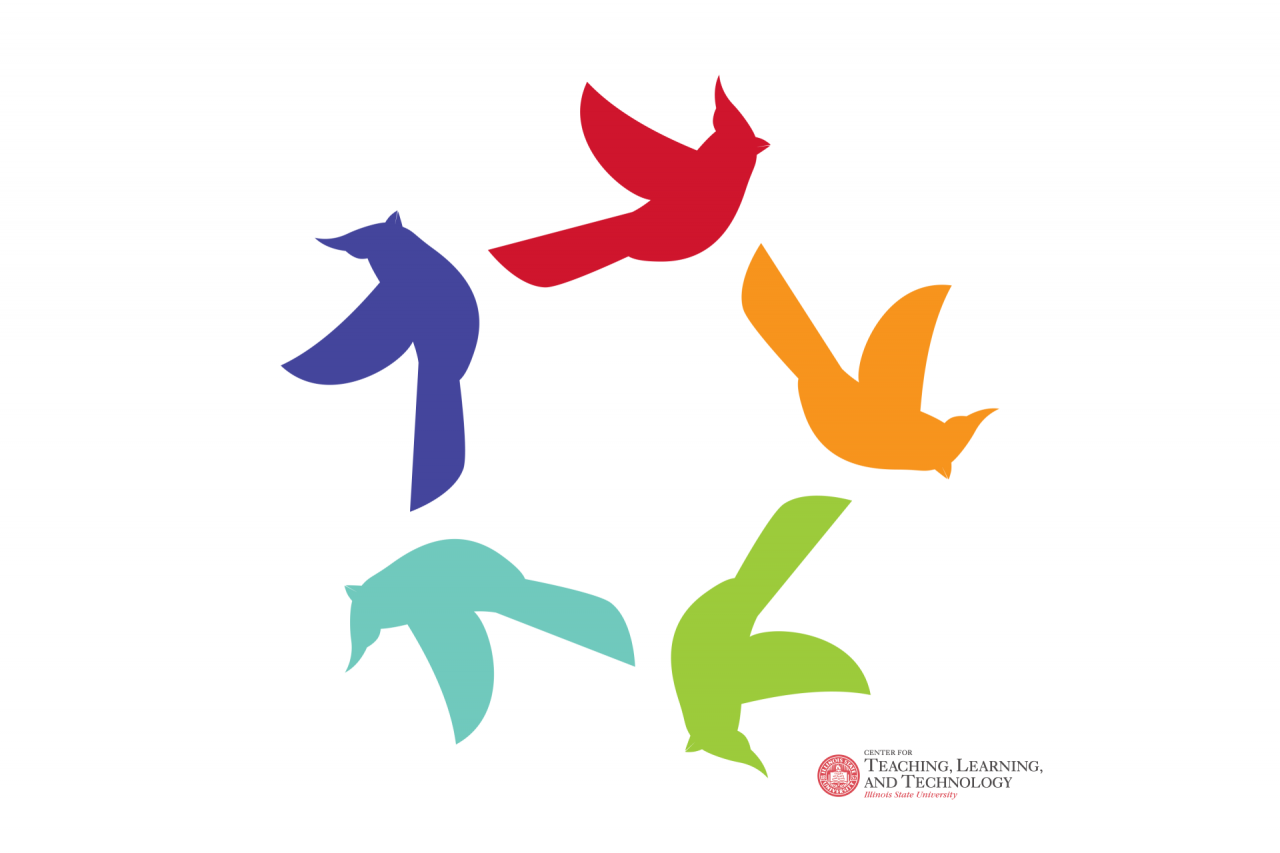 Logo of birds with a circle, with CTLT logo in corner
