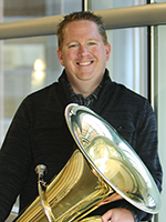 Photo of Andy Rummel with tuba