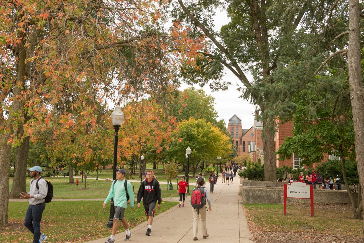 There are countless ways a visit to campus, like the Quad at Illinois State, shown here, can help refine your college search.