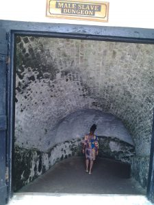 Entrance to a former slave dungeon in Ghana