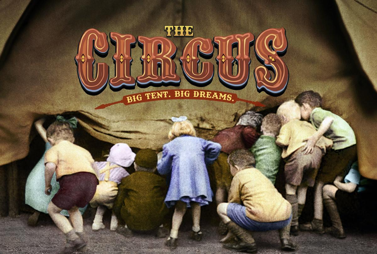 The Circus Big Tent, Big Dreams children looking into a circus tent