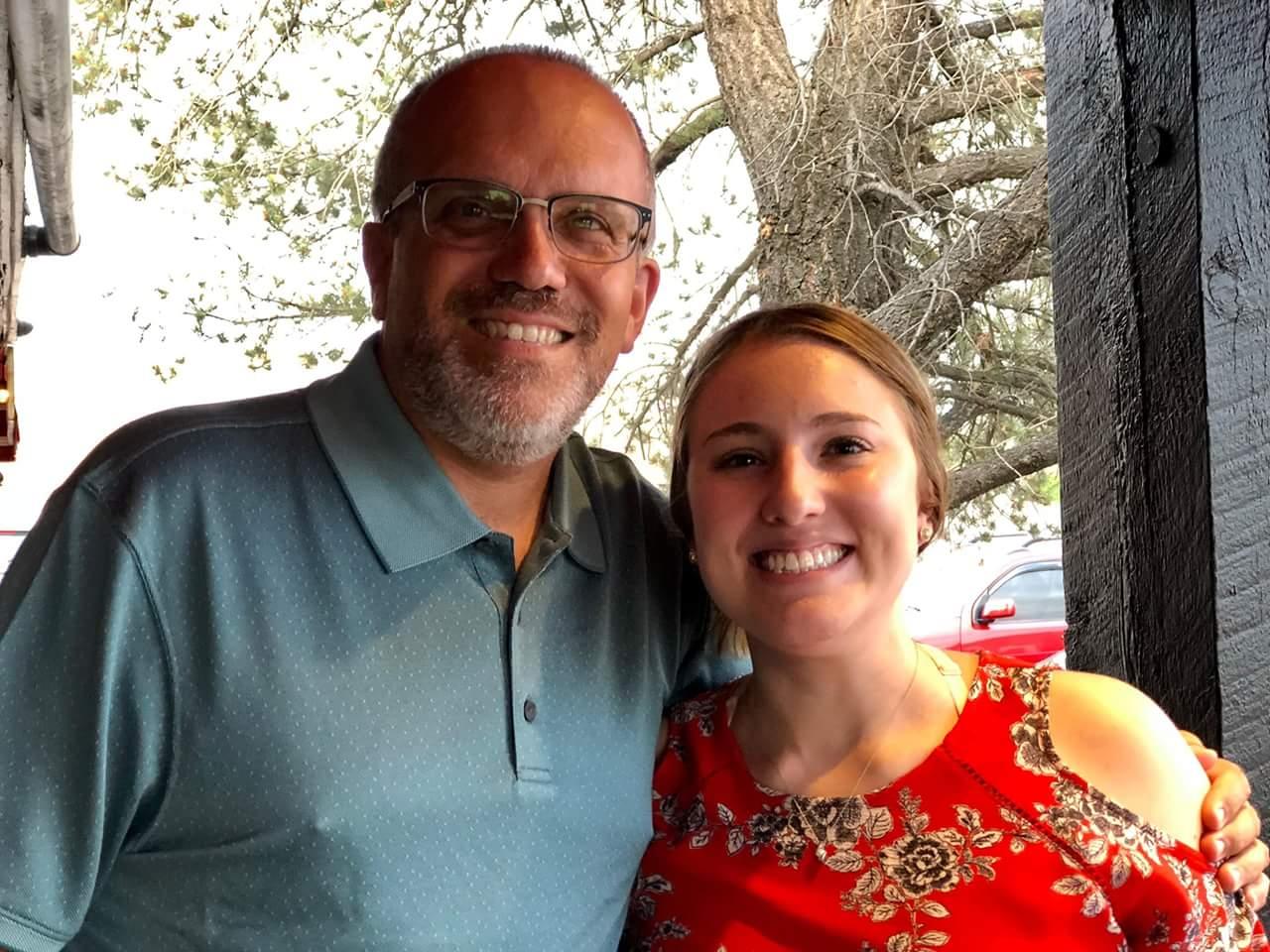 Professor Michael Gizzi and Amy Juzwin