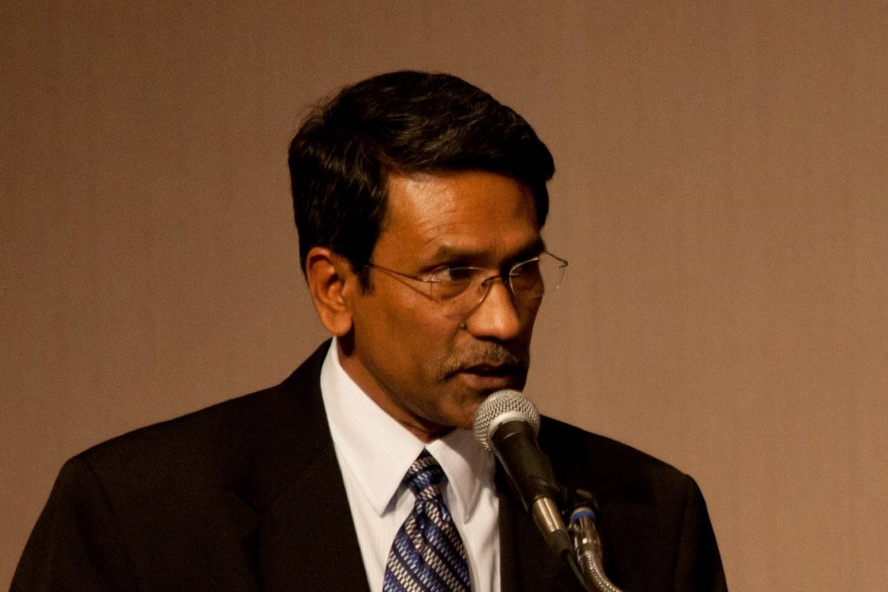 Professor Ali Riaz at the Podium