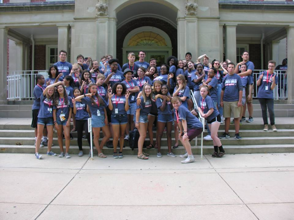 Students attending the 2018 ISU Summer Speech and Debate Institute