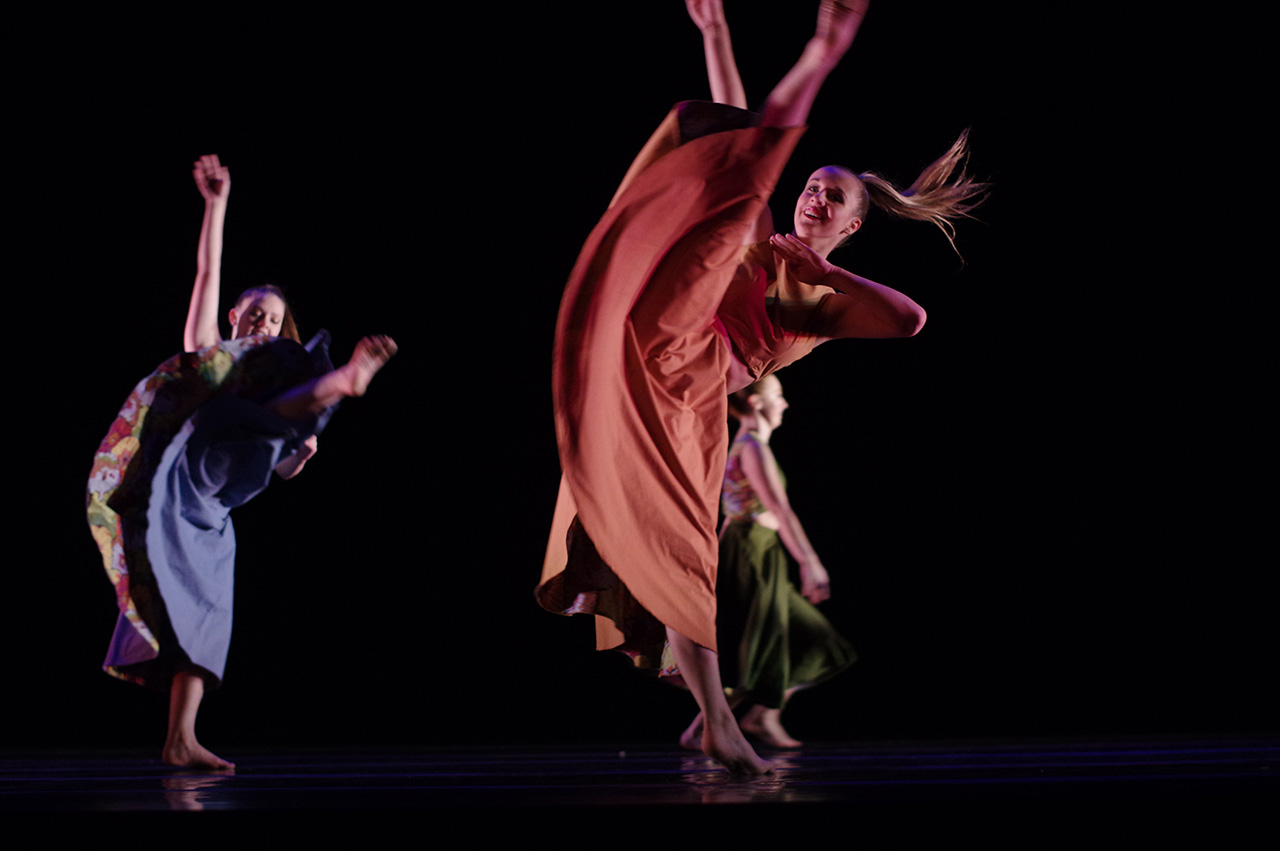Images of dancers from a previous dance concert.