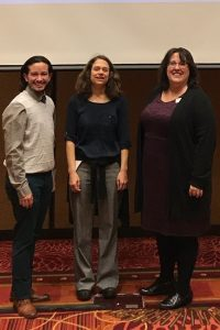 Jordee Yanez, School of Social Work (SWK) graduate student and CSD graduate assistant; Lisa Vinney, CSD assistant professor; Tricia Larkin, CSD clinical educator
