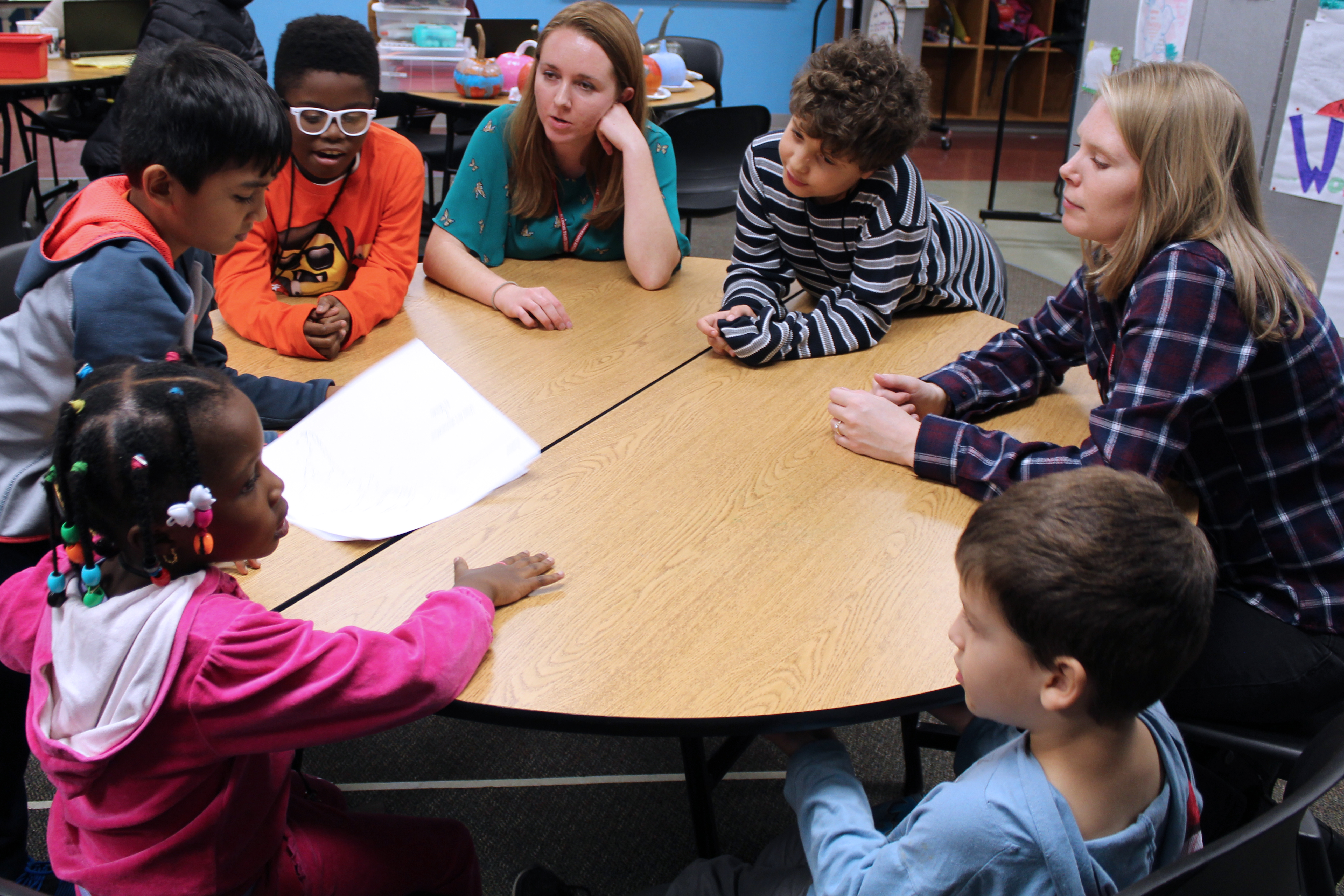 Two ISU students work with Unity youth