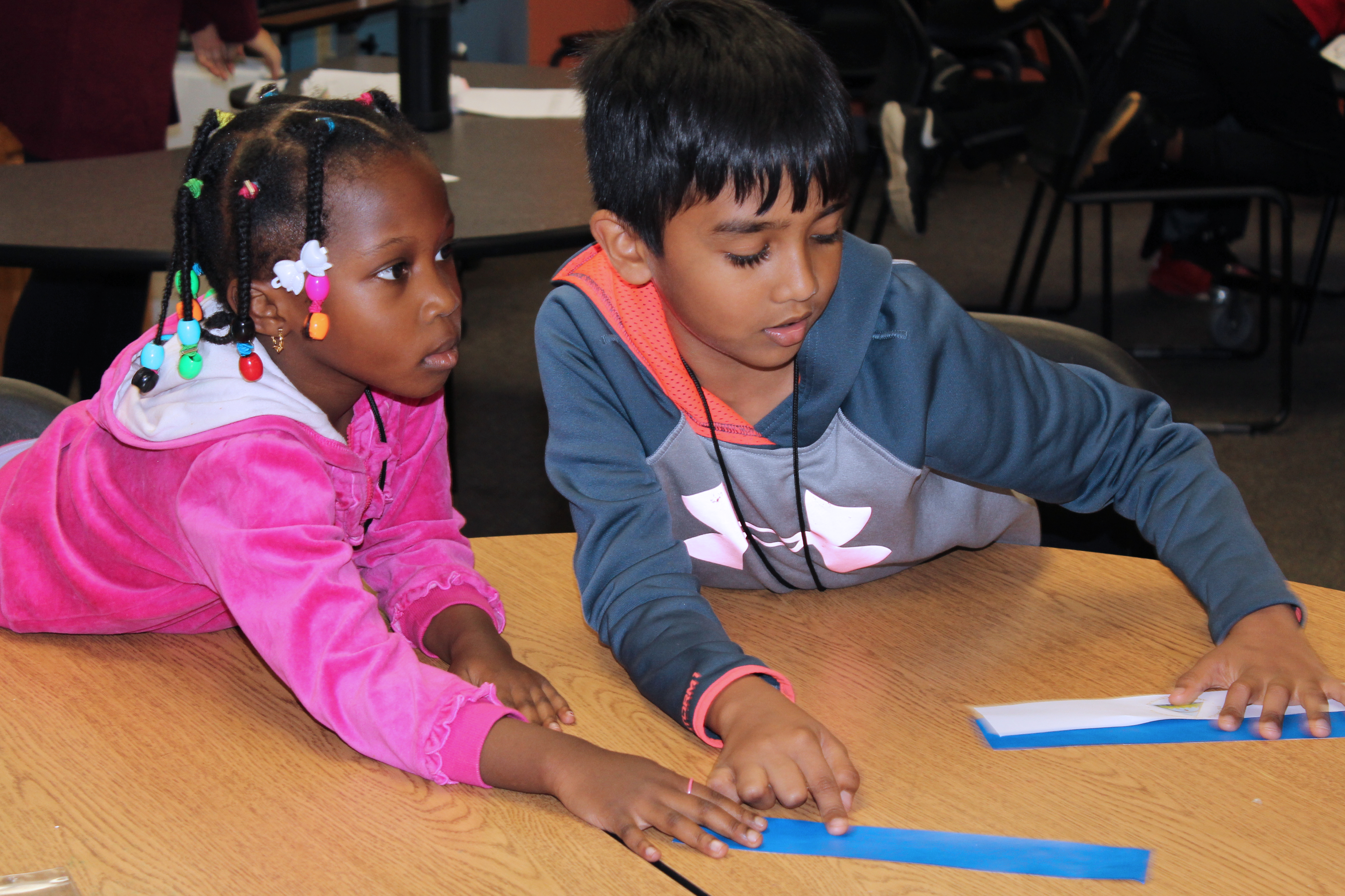 Unity youth discuss color during their lesson