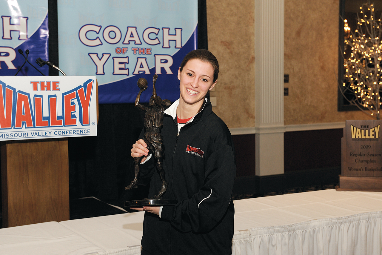 Kristi Cirone holding trophy