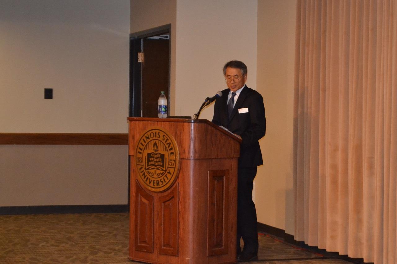 T,Y. Wang at the podium