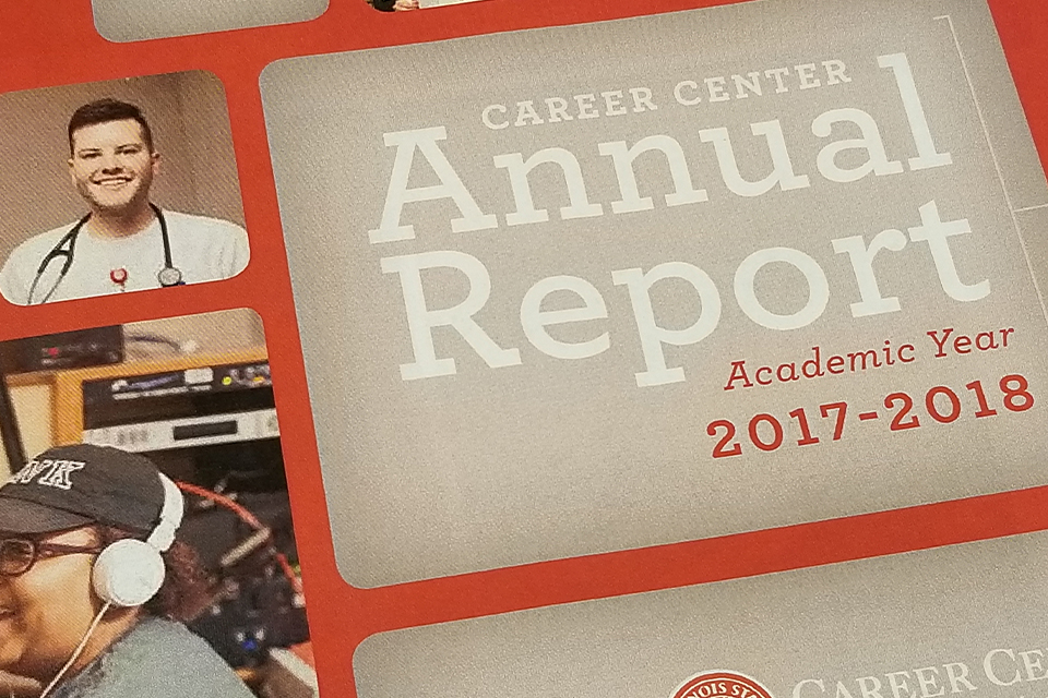 from the outside cover to inside data the Career Center highlights Redbird career uccess