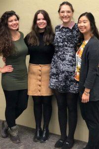 Krystal Miranda, Kathleen McMillen, Maddie Katalinich, and Alison Dungca host a CSD panel event.
