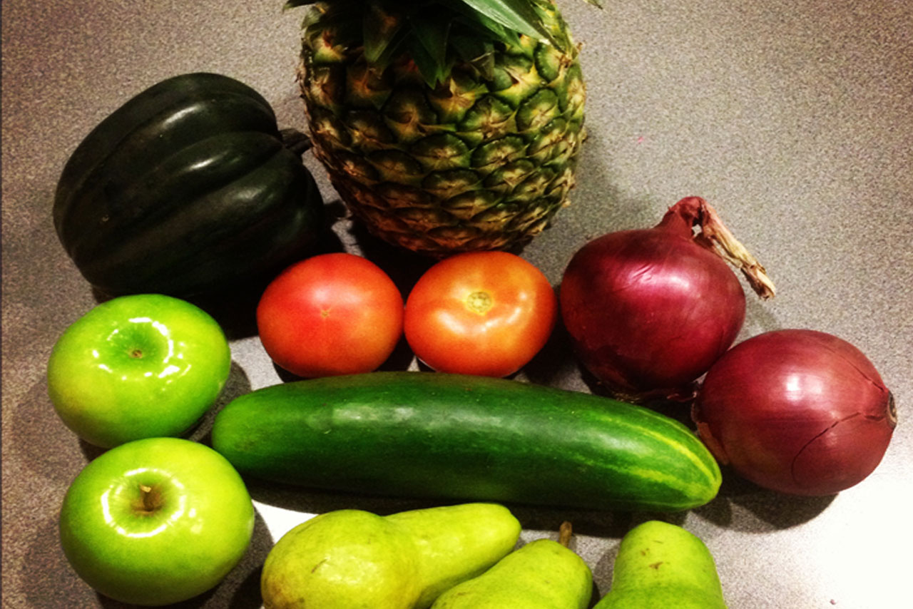 Example of Fresh FAVs produce received at a pick up