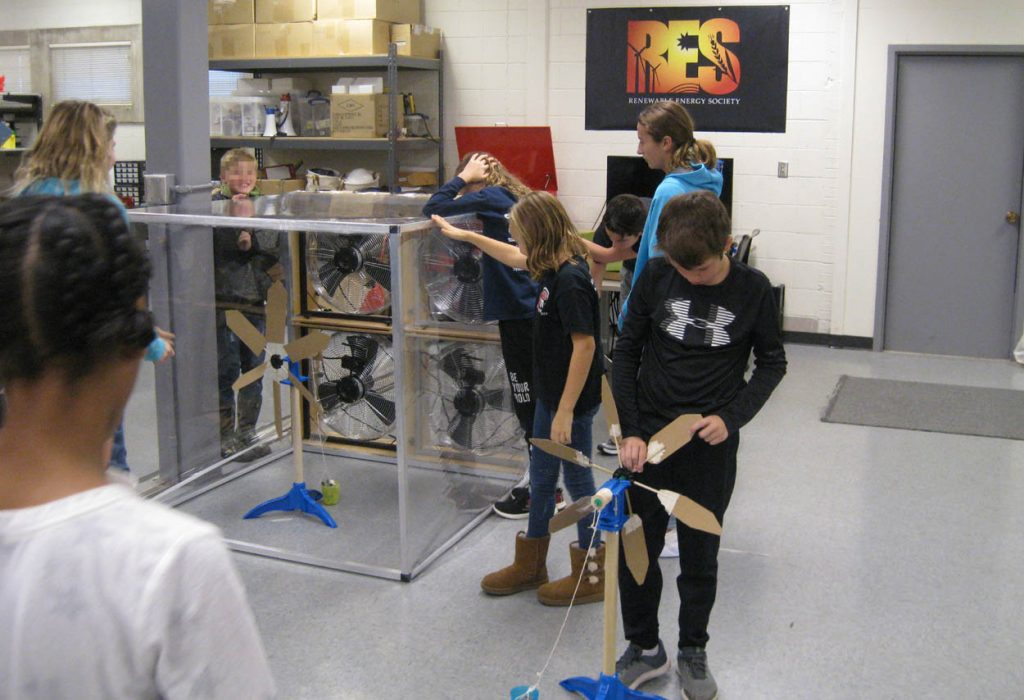 Metcalf students study wind energy.