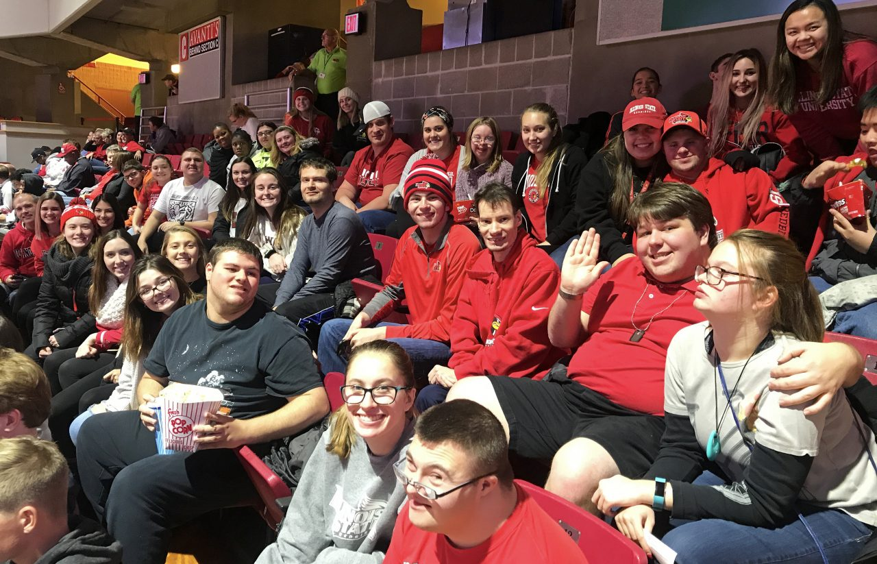Illinois State Best Buddies at a basketball game