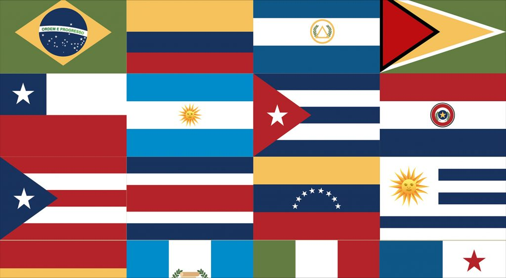 Series of flags from Latin American countries