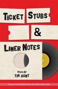 Front cover of Ticket Stubs and Liner Notes by Tim Hunt (Main Street Rag, 2018)
