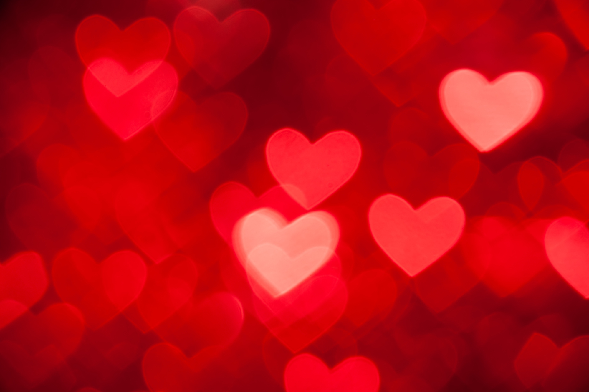 red hearts as background