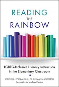 book cover for Reading the Rainbow