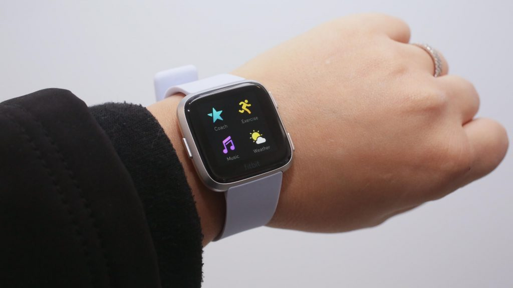 Fitbit on a person's wrist