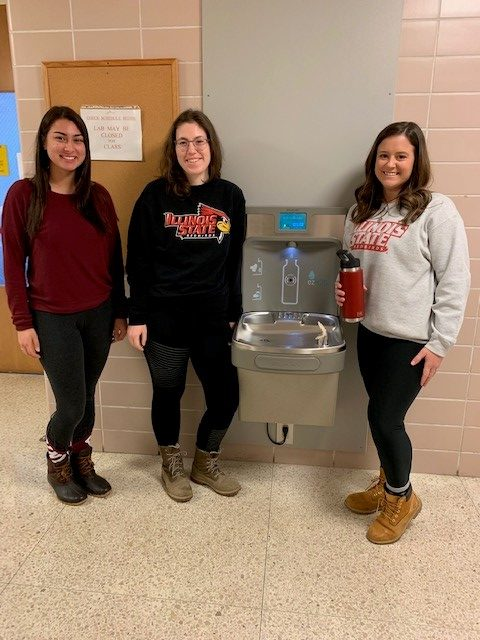 Medical laboratory science major Baylee Hull leads water bottle filling stations initiative in FSA & FHS