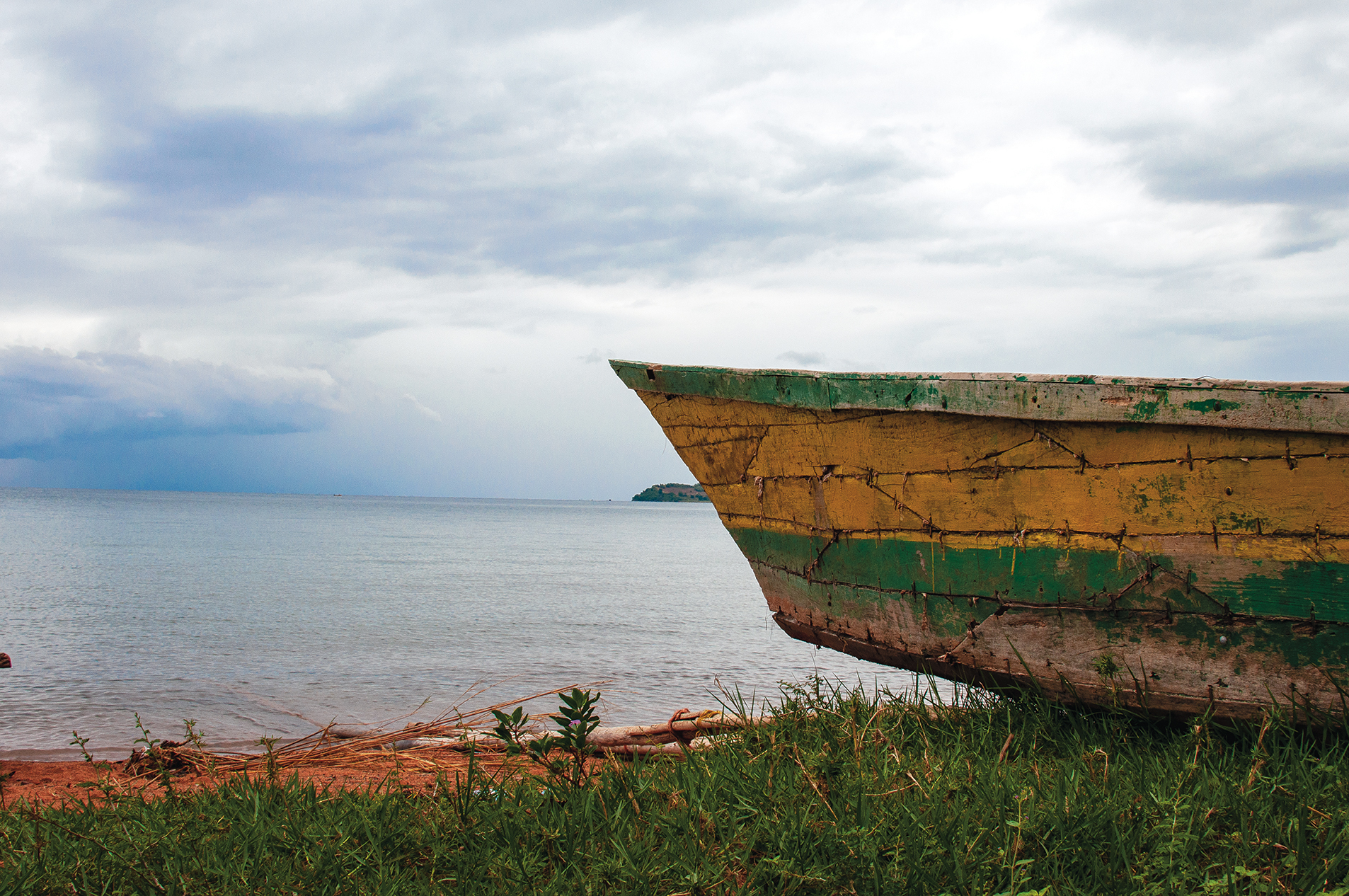 boat on lake shore