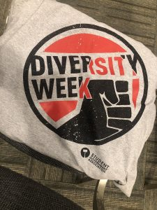 image of a Diversity Week T-shirt with the Diversity Week logo