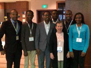 SoC graduate students and alumni with Professor Cheri Simonds.