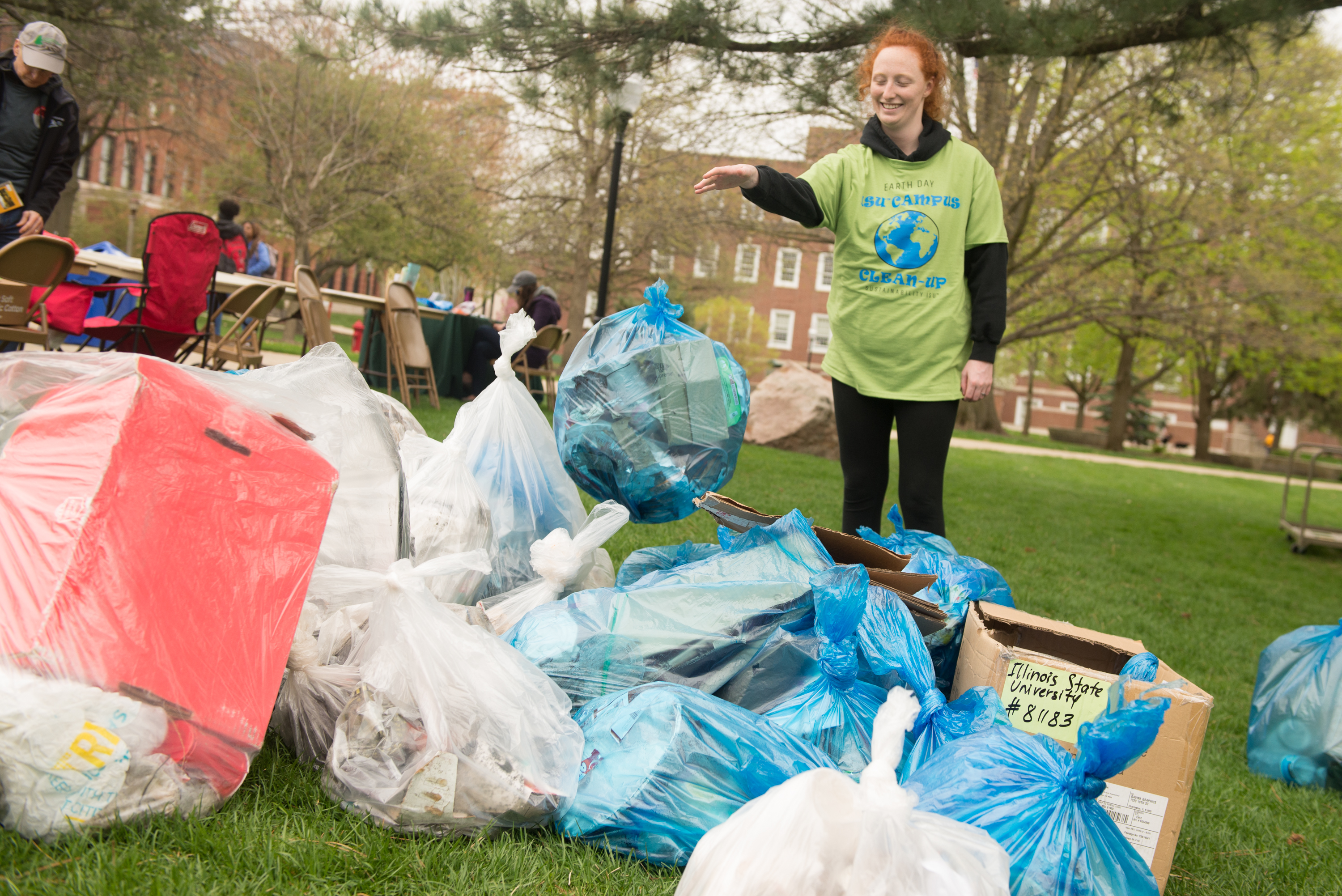Volunteers removed about 300 pounds of waste from campus and the surrounding areas.