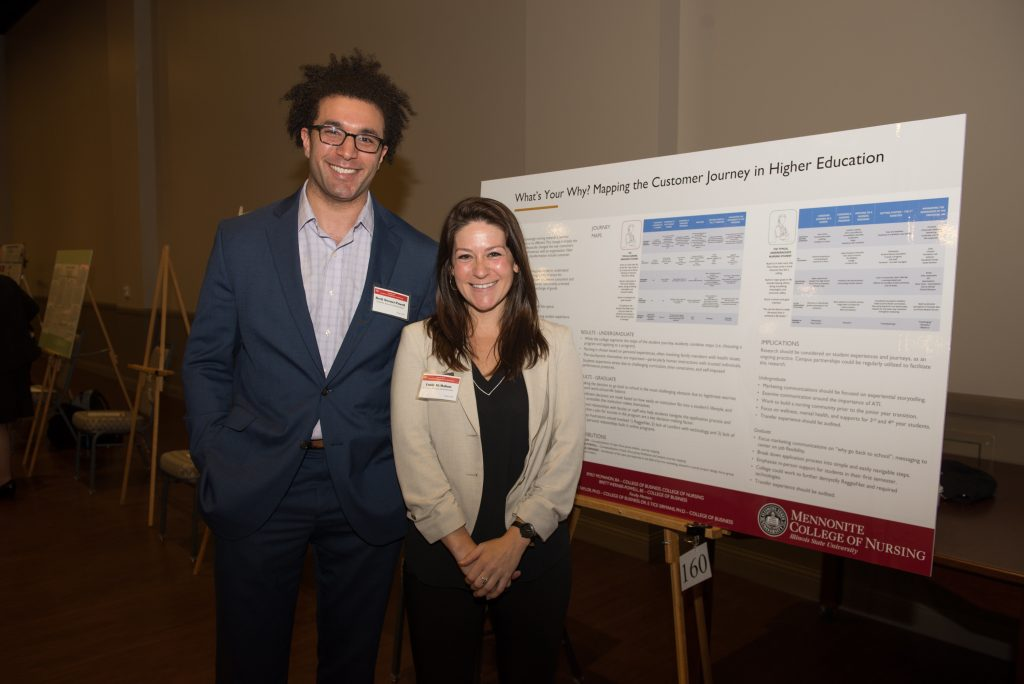 Brett Werner-Powell and Emily McMahon at the Research Symposium