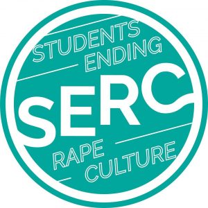 Logo of the group Students Ending Rape Culture, with the letters S, E, R, C on it.