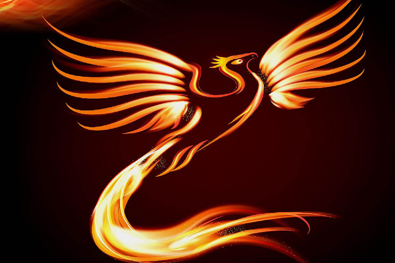 Image of a Firebird from the concert poster.